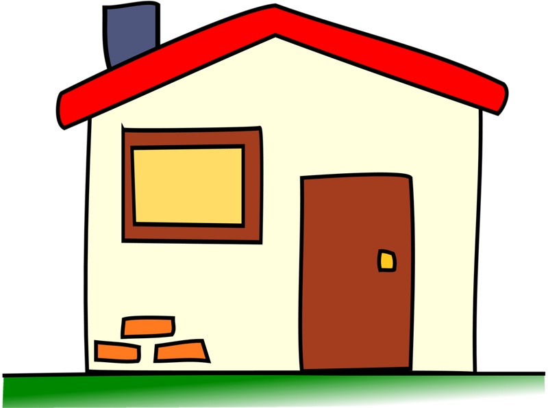 Cottage clipart house family, Cottage house family.