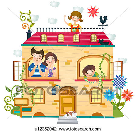 Happy family at home clipart 2 » Clipart Station.