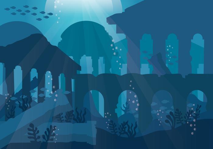 City of Atlantis Vector.