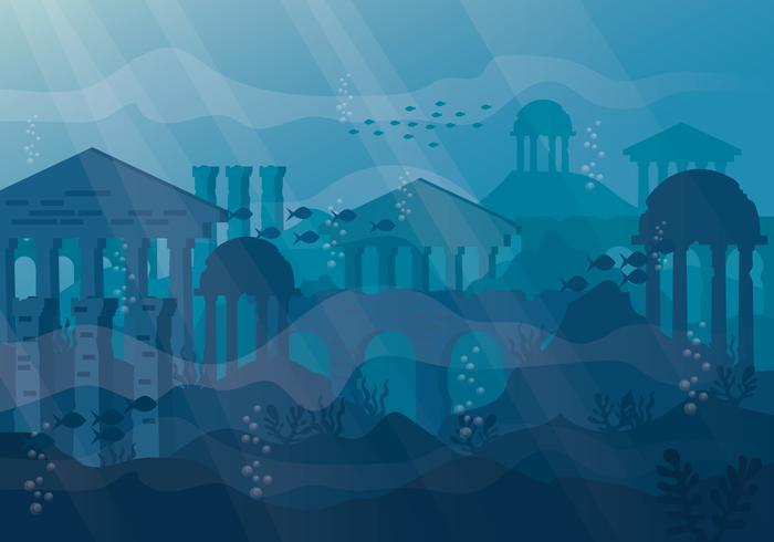 City of Atlantis Illustration.