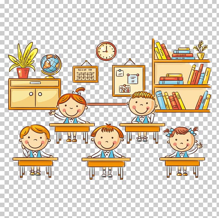 Student Cartoon Classroom Lesson PNG, Clipart, Area, Attend.