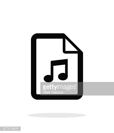 Audio file icon on white background. Clipart Image.