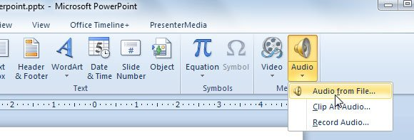 How to Insert Clipart Audio in PowerPoint 2010.