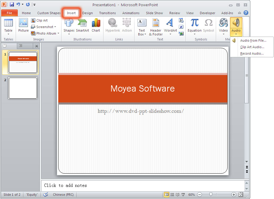 How to Play a Sound across Multiple Slides in Microsoft.