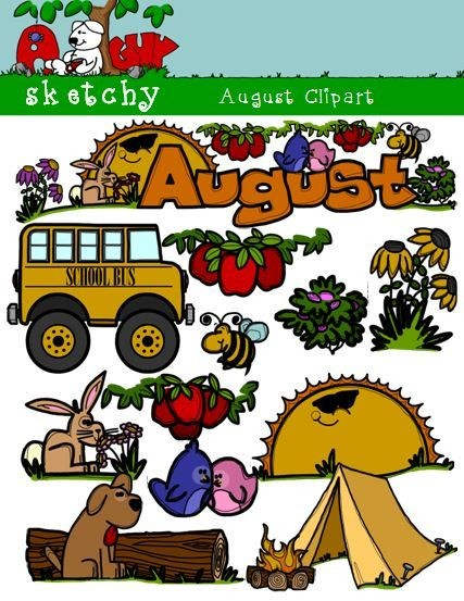 August Clipart.