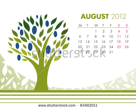 May Tree Calendar 2012 Vector Stock Vector 85184380.