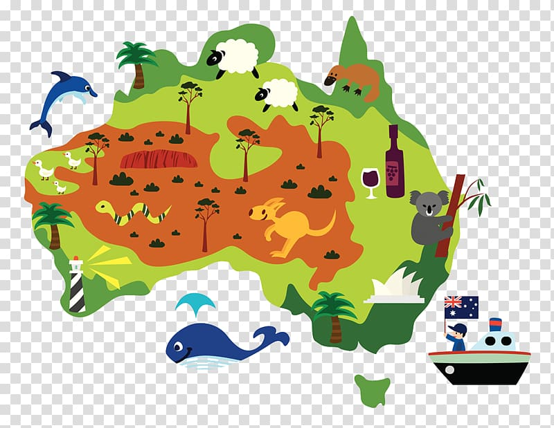 Australia Cartoon, Australian cartoon tourism transparent.