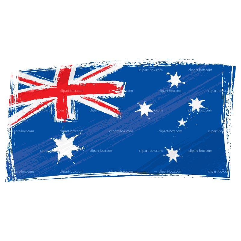 CLIPART AUSTRALIA FLAG.