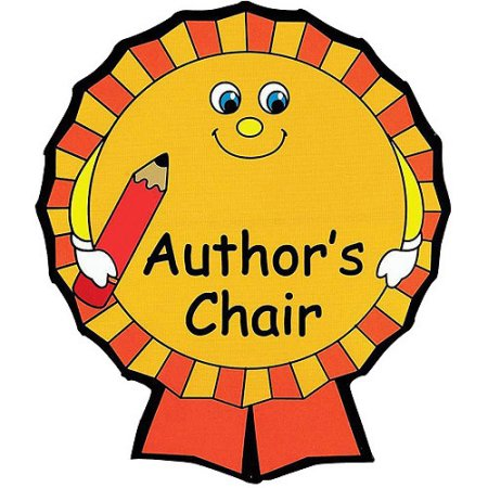 Author's Chair Clipart.