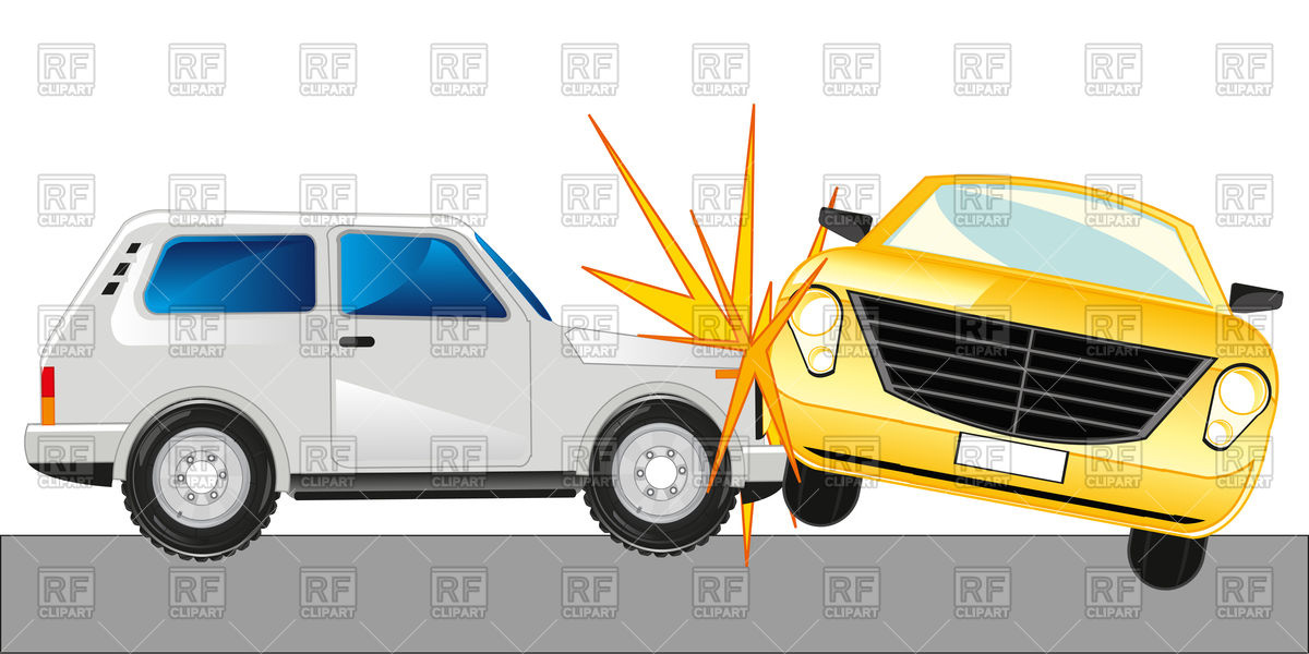 Collection of Collision clipart.