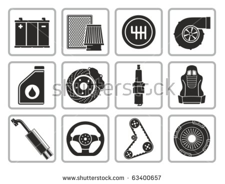 Car Parts Stock Images, Royalty.