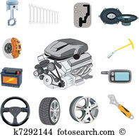 Auto parts Clipart Illustrations. 3,726 auto parts clip art vector.