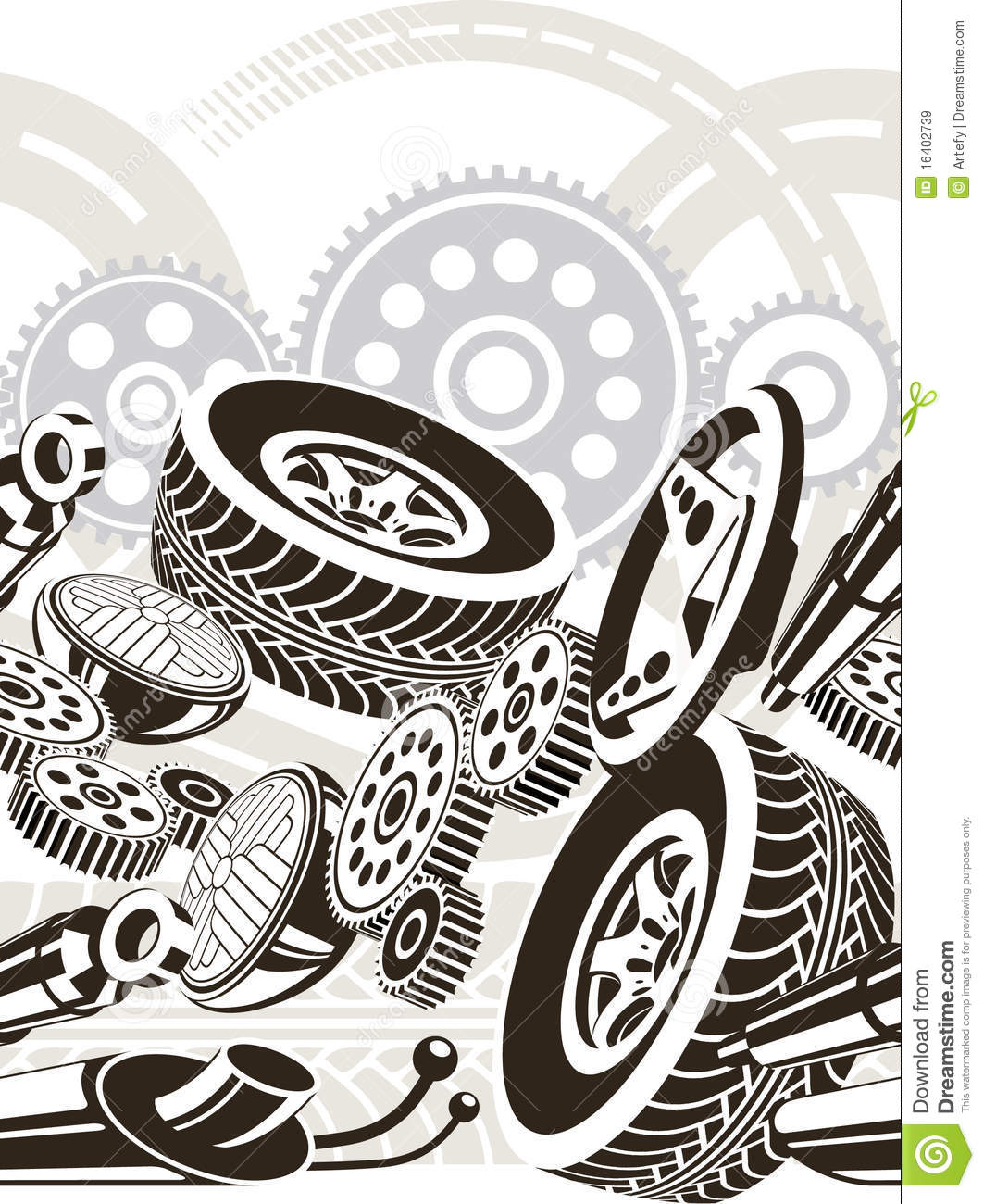 Car Parts Seamless Pattern Royalty Free Stock Images.