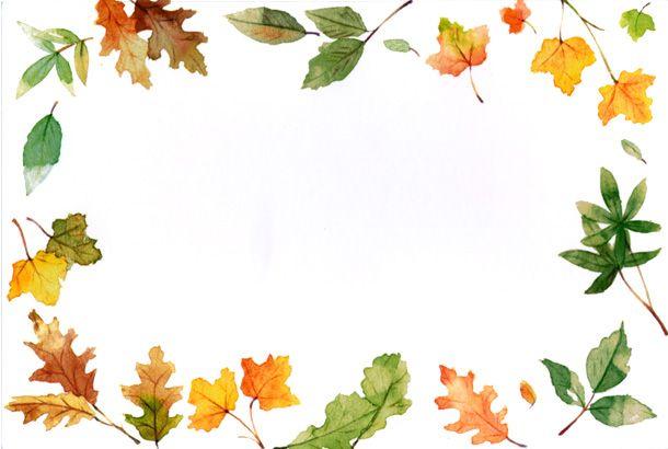 Autumn Clip Art Border.