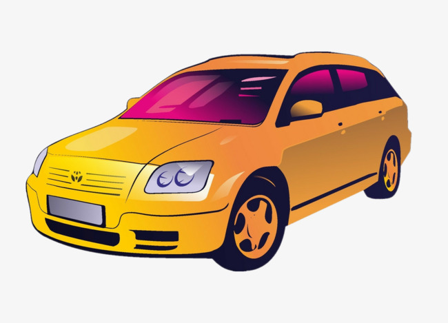 Yellow Car, Car Clipart, Automobile, Vehicle PNG Image and Clipart.