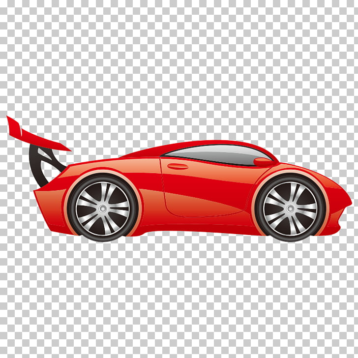 Sports car Auto racing Wall decal Cartoon, Transportation.