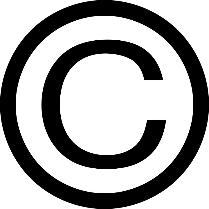 Free vector graphic: Copyright, Symbol, Sign, Black.
