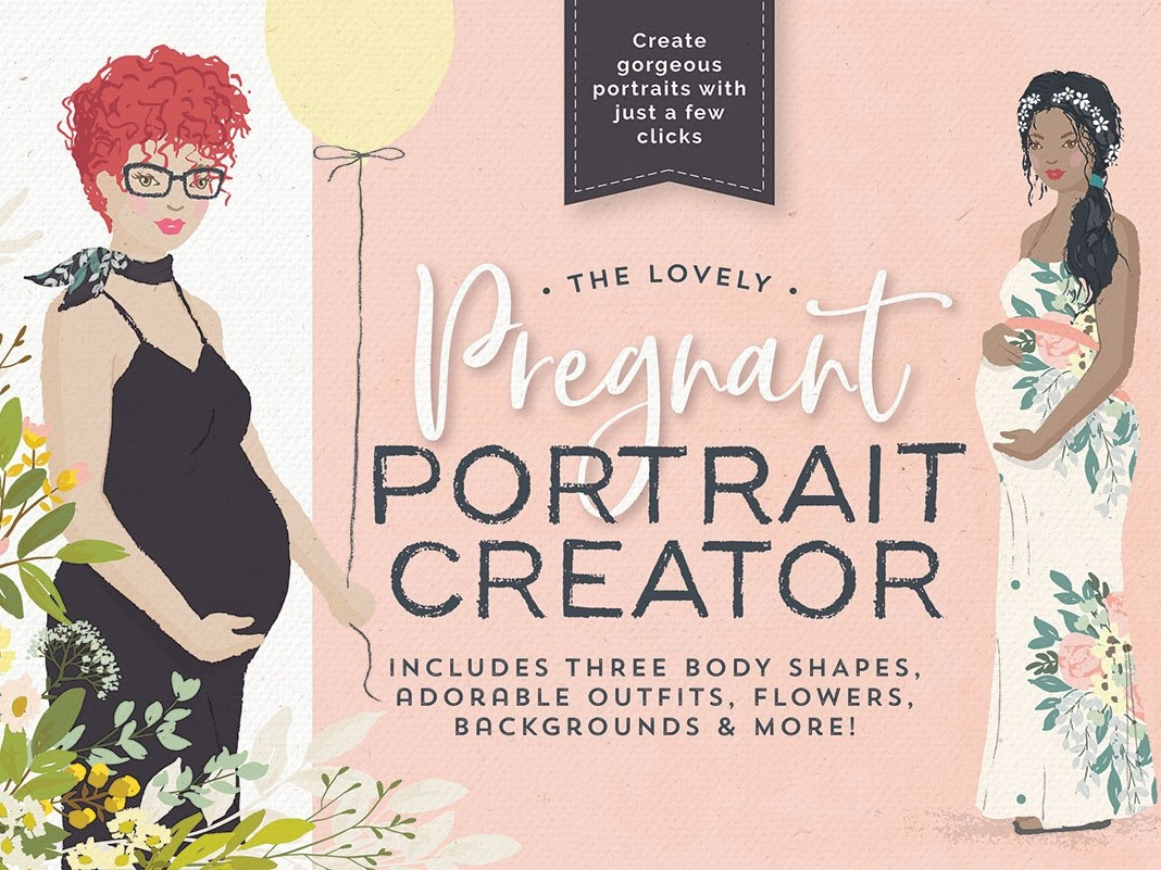 The lovely Pregnant Portrait Creator by Graphics Collection.