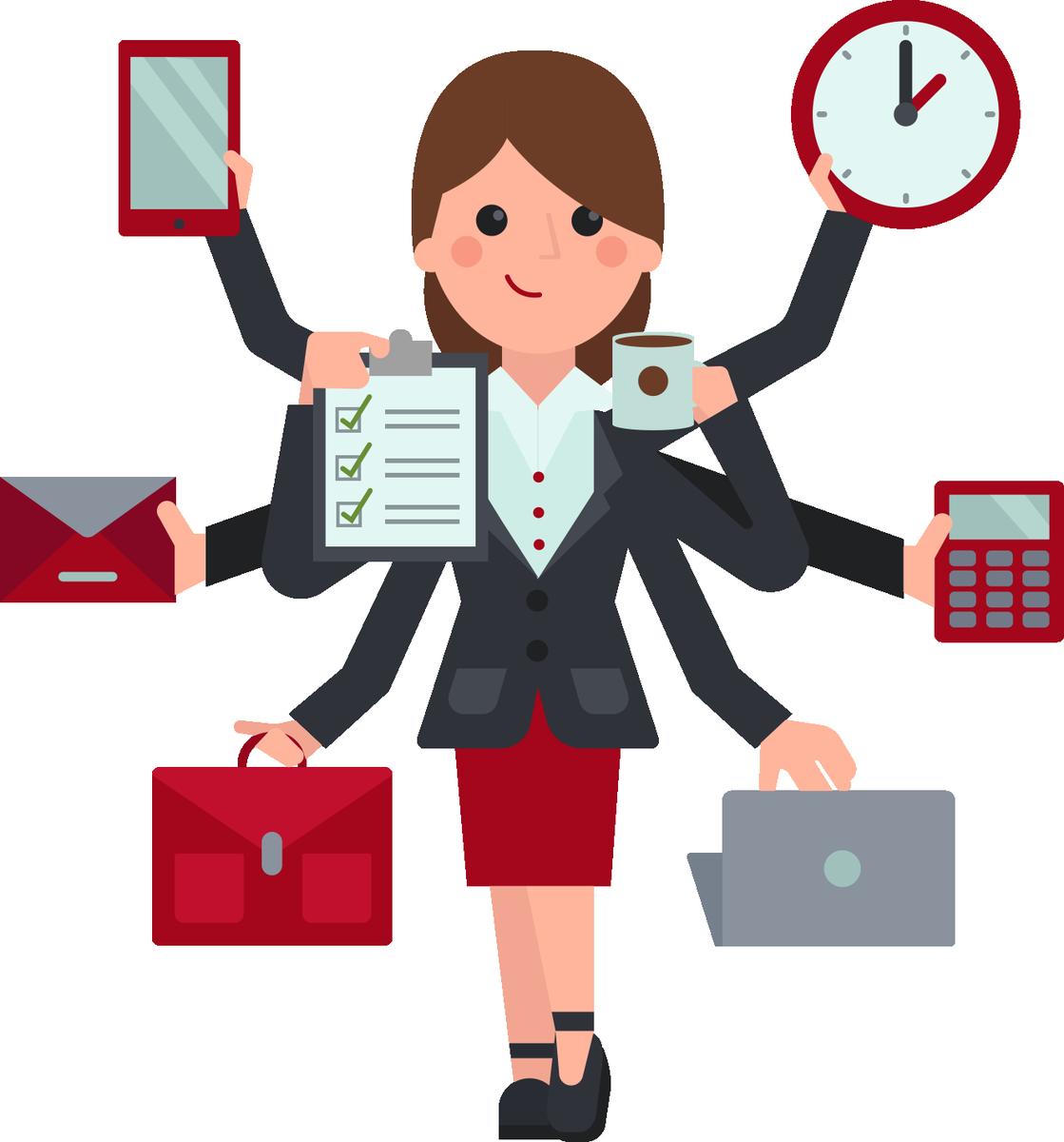 Receptionist clipart secretarial, Receptionist secretarial.