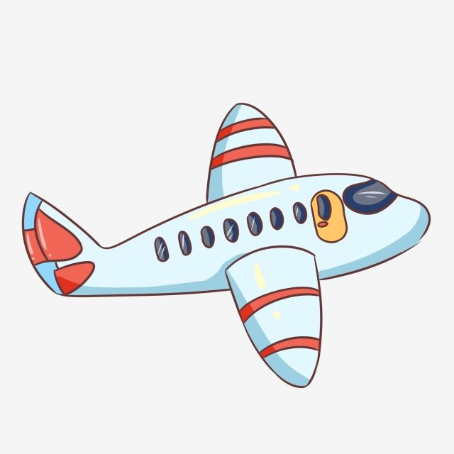 Avion Azul Avión De Dibujos Animados Avión De Juguete Para.