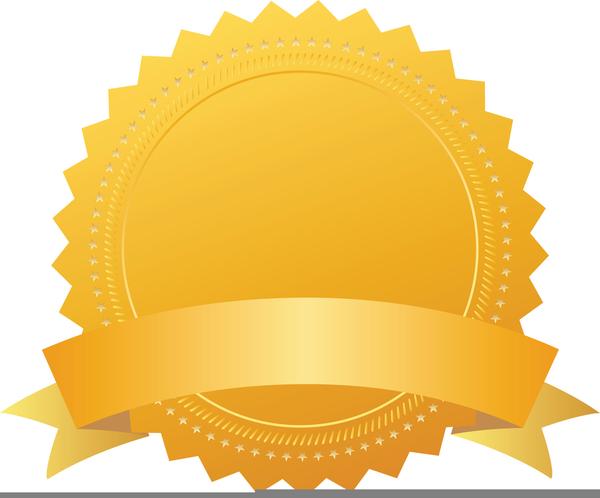 Award Certificate Seals Clipart.