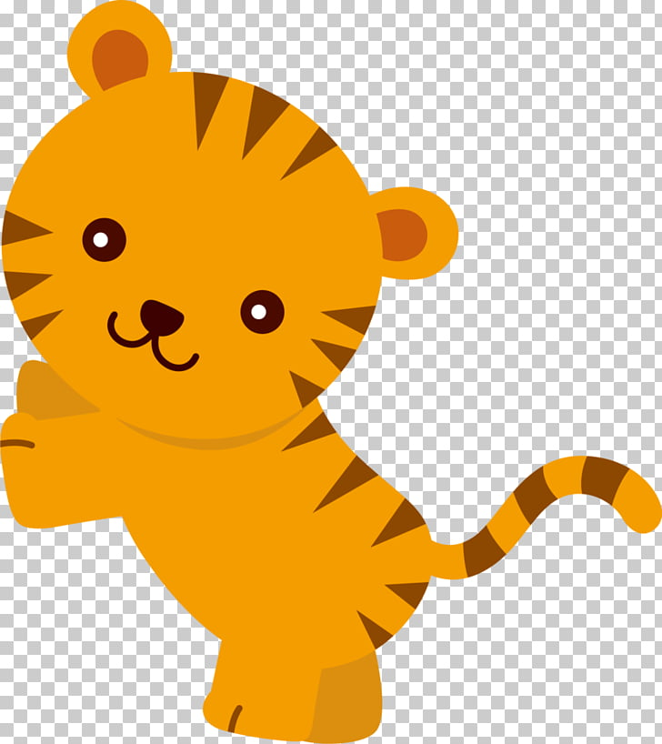 baby animals, tiger PNG clipart.