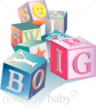 Baby Blocks Clipart.