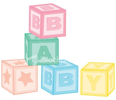Baby Blocks Free Clipart.