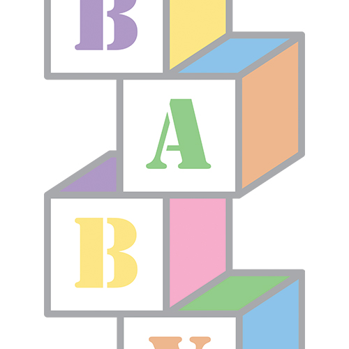 Baby Blocks Clip Art Set.