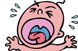 Crying baby clipart.