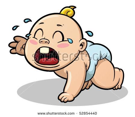 Cartoon Baby Crying Vector Clip Art Stock Vector 216397903.