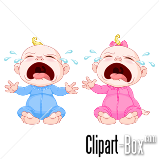CLIPART CRYING BABIES.
