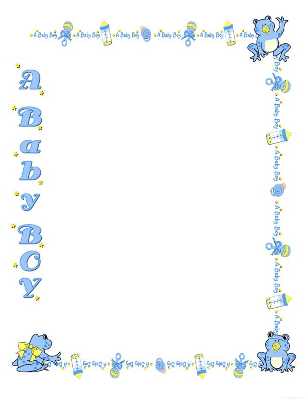 free baby clipart borders and frames #17