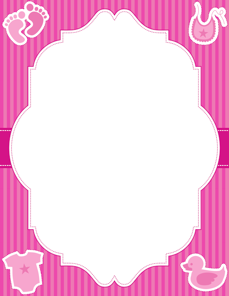 Printable baby girl border. Free GIF, JPG, PDF, and PNG downloads.