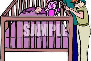 Baby in a crib clipart » Clipart Portal.