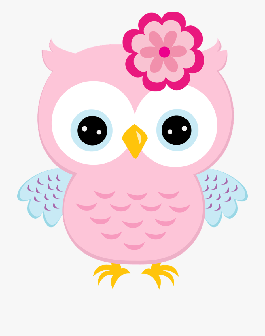Cute Blue Cartoon Baby Owl Poster.