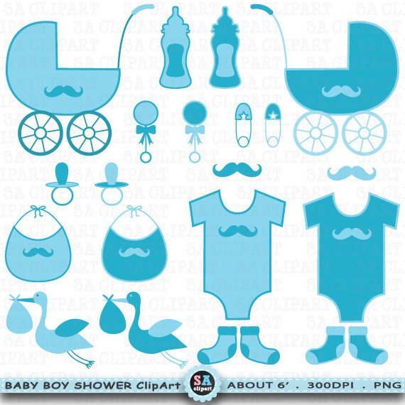 Baby Shower Boy Clipart \