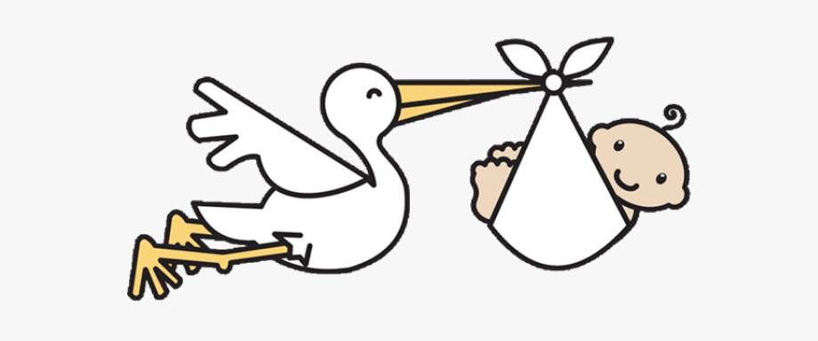 Stork And Baby Clipart.