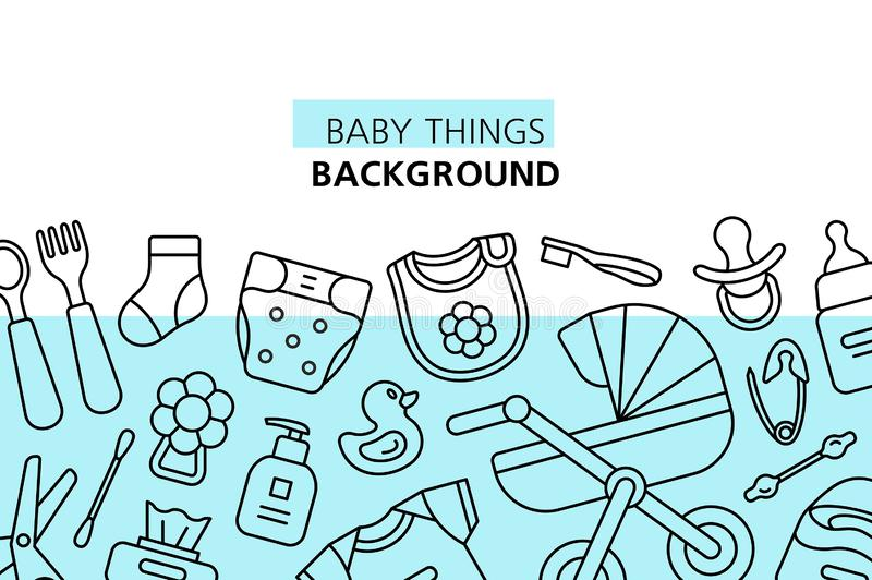 Baby Things Stock Illustrations.