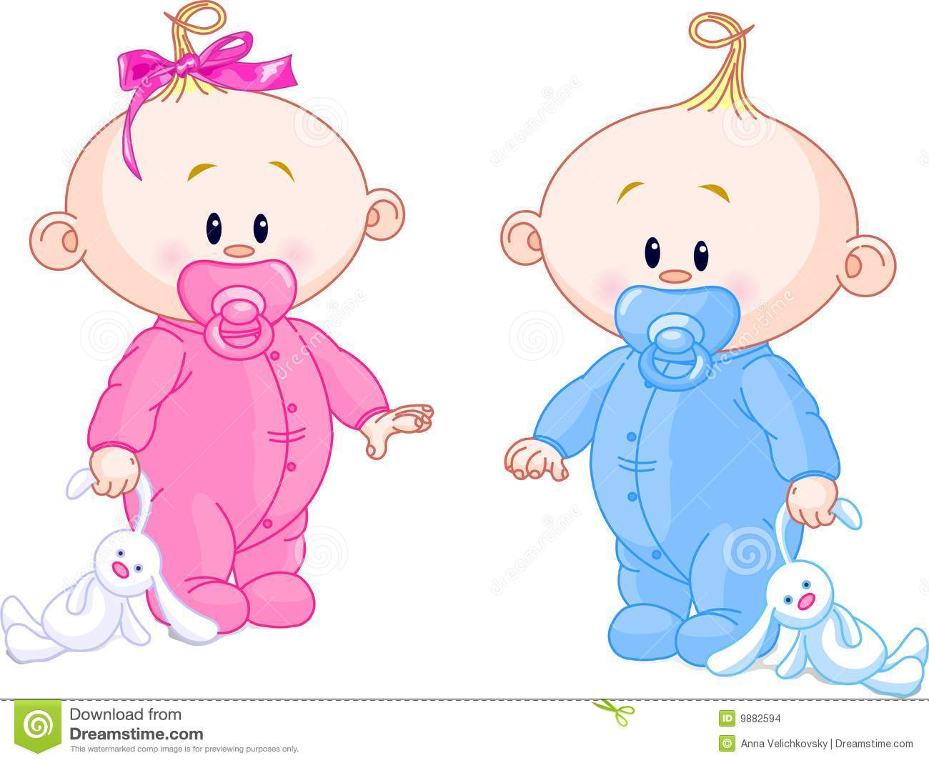 Baby Twins Clipart.