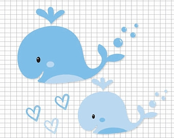 Baby whale clipart 9.