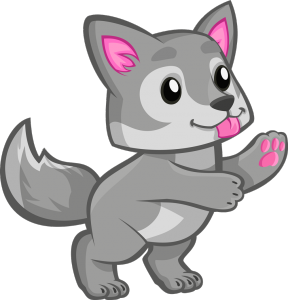 Cute Wolf Clipart.