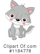 Baby Wolf Clipart #1.