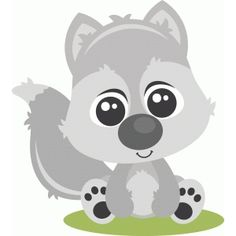 clipart baby wolf - Clipground