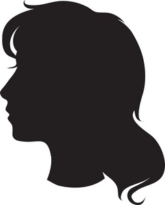 Back girl head clipart.