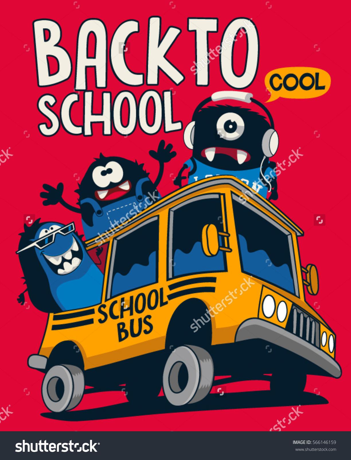 Back School Monsters Stock Vector 566146159.