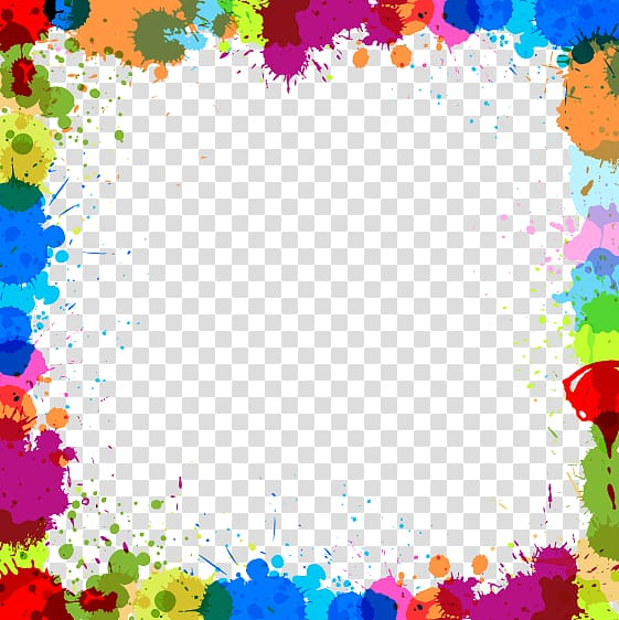 Paint background, Color , Color ink border transparent.