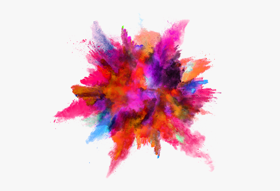 Color Splash Explosion Powder Ink Download Hq Png Clipart.