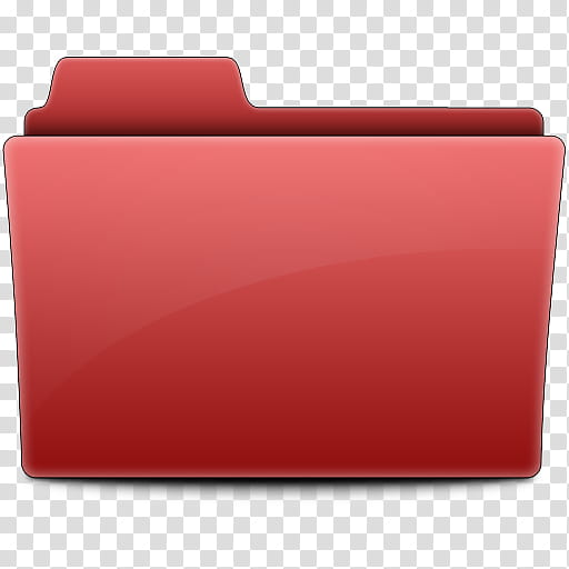 Label Folders, red file icon transparent background PNG.