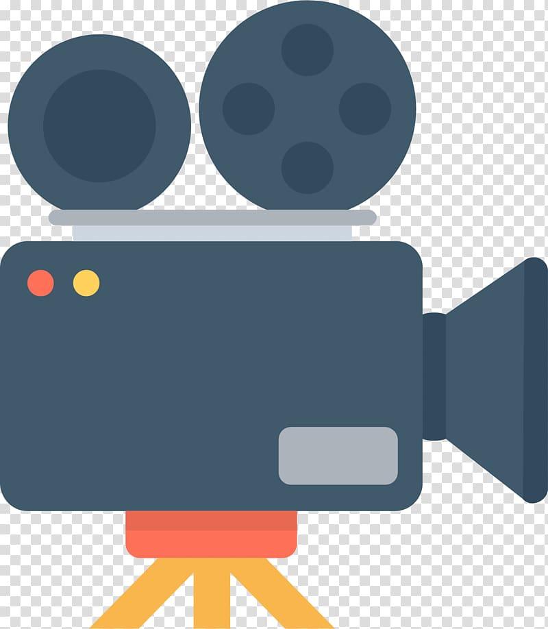 Black video camera illustration, Video camera Drawing Icon.